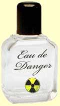 Perfume bottle labeled Eau de Danger