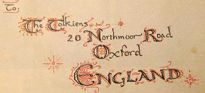 Ornately lettered address to the Tolkien Family