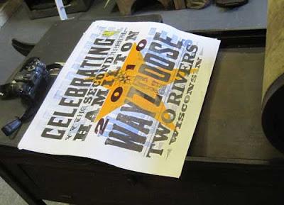 Hamilton Wayzgoose poster by Rick von Holdt