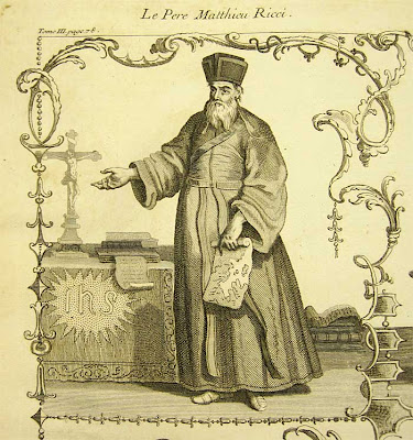 Black and white engraving of the Jesuit Matteo Ricci