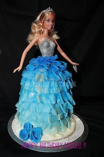 Tj S Kitchen Blue Barbie Cake