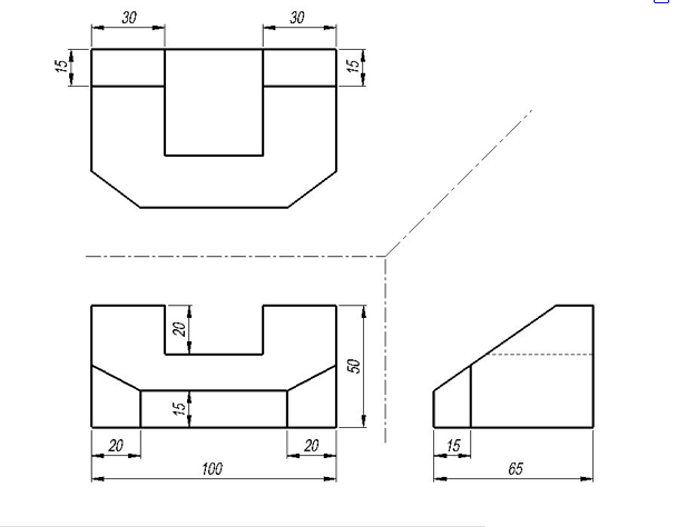 how to draw isometric drawing from orthographic view