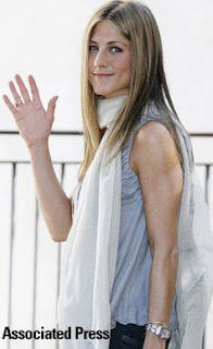 Jennifer Aniston in a scarf