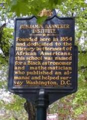 street marker for Banneker Institute Philadelphia