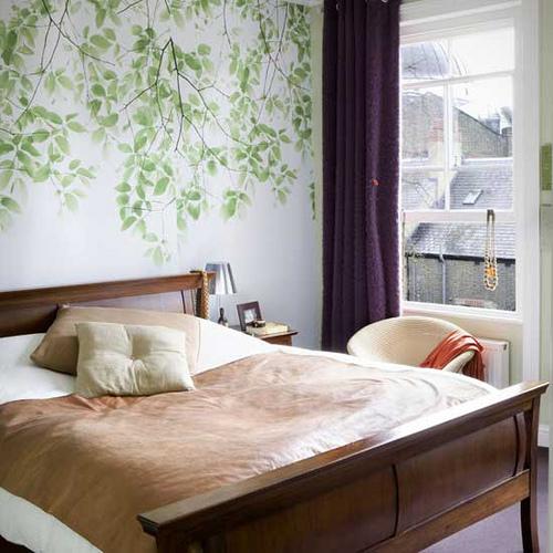Ideas Para Decorar De Tu Habitaci N Fotos Y Dise O De Dormitorios Flores En La Pared
