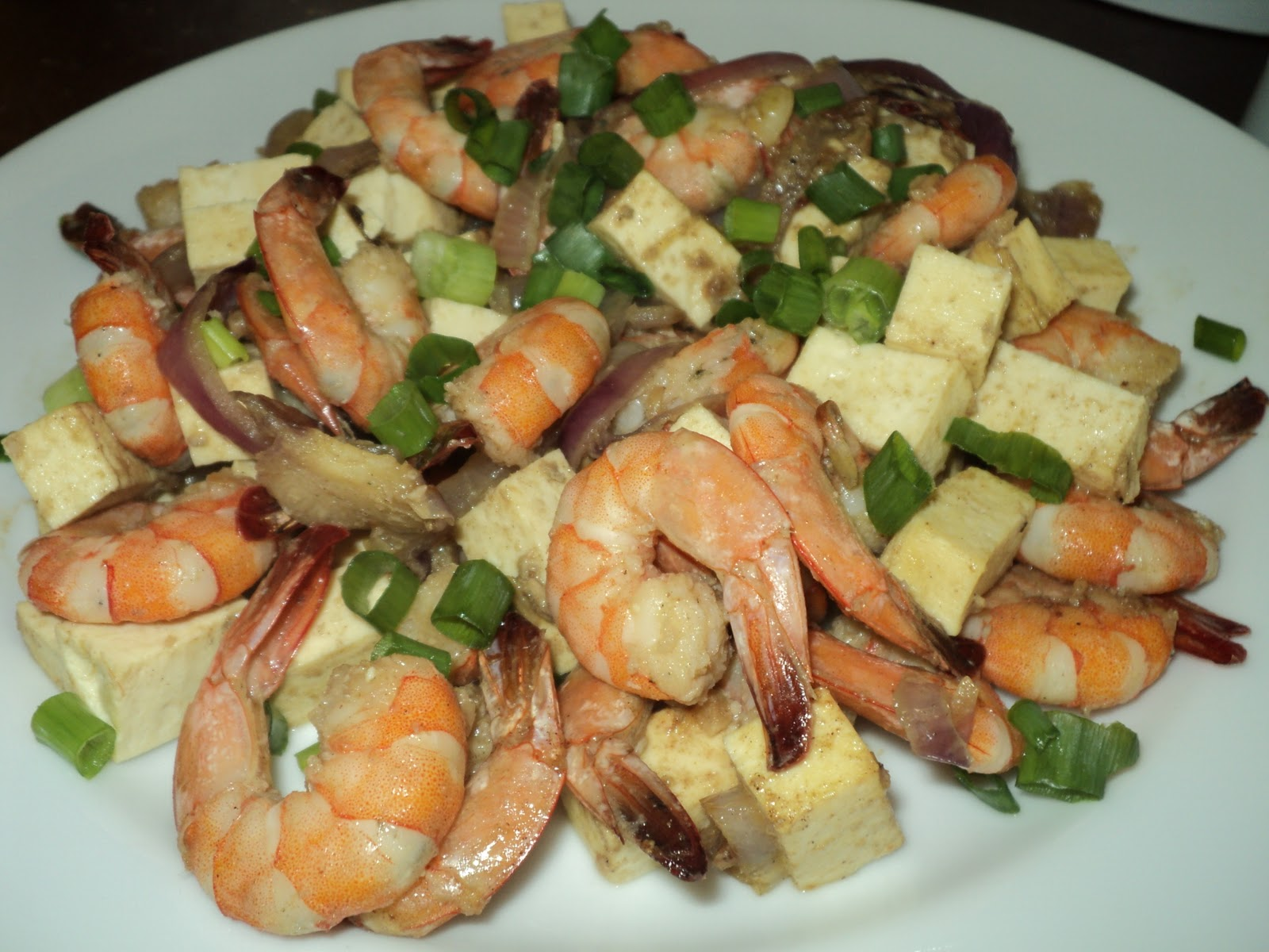 shrimp with tofu and salted anchovy fry
