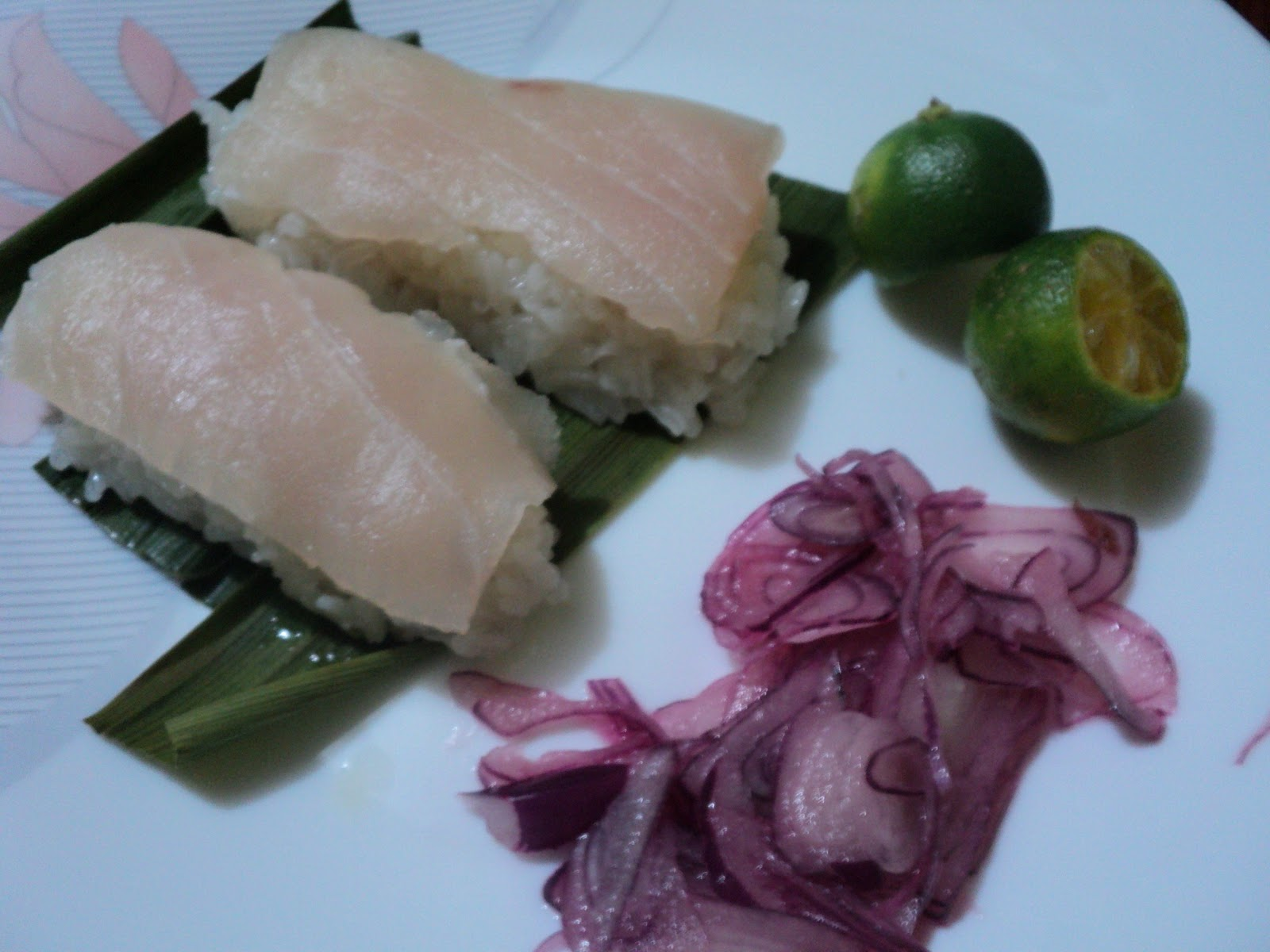 Pinoy sashimi glutinous rice