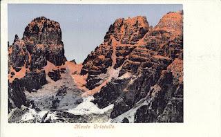 Piz Popena e Monte Cristallo, versante nord