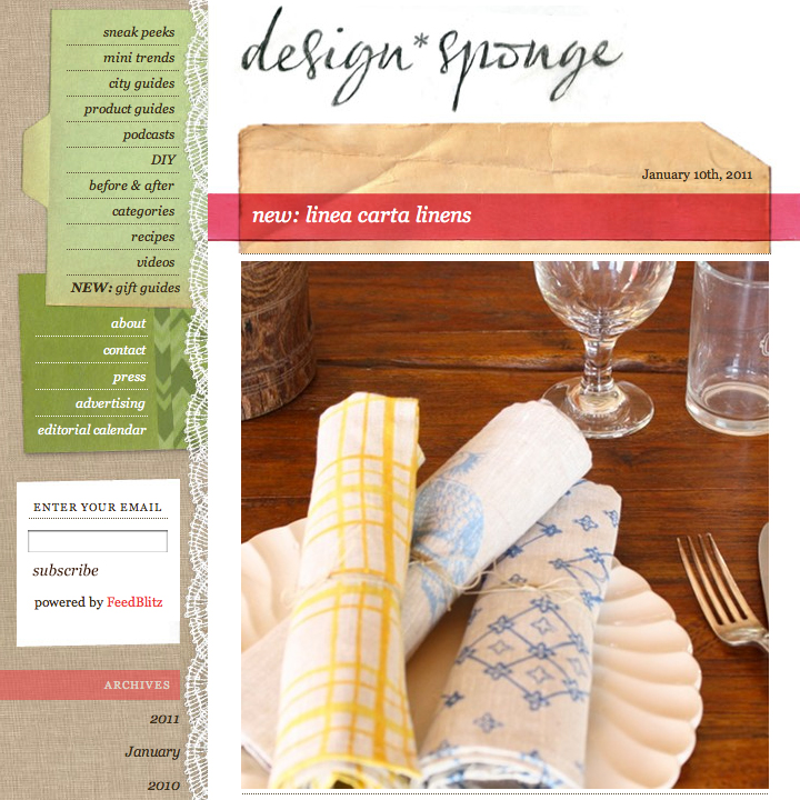 Linea carta lc at design sponge for Linea carta canape plates