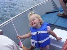 Fishing with Grandpa and Daddy!!