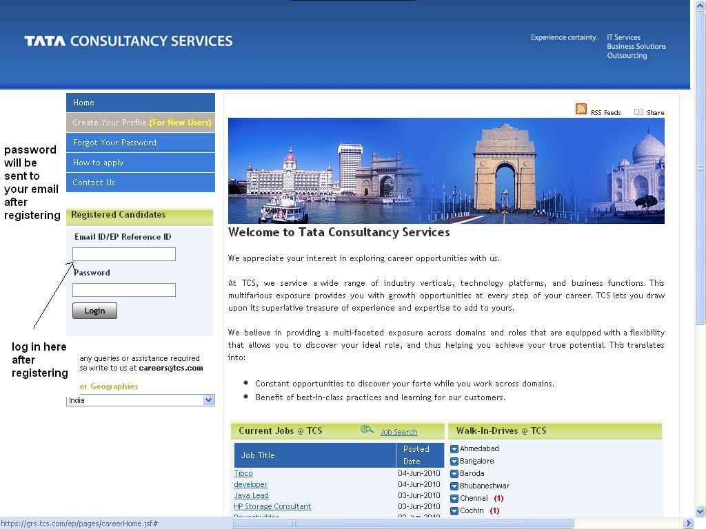 tcs careers upload resume tcs job vacancies send your resumes to