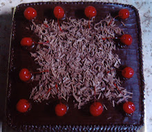 MOIST CHOCOLATE CAKE WITH CHERRY & CHOC. FLAKE