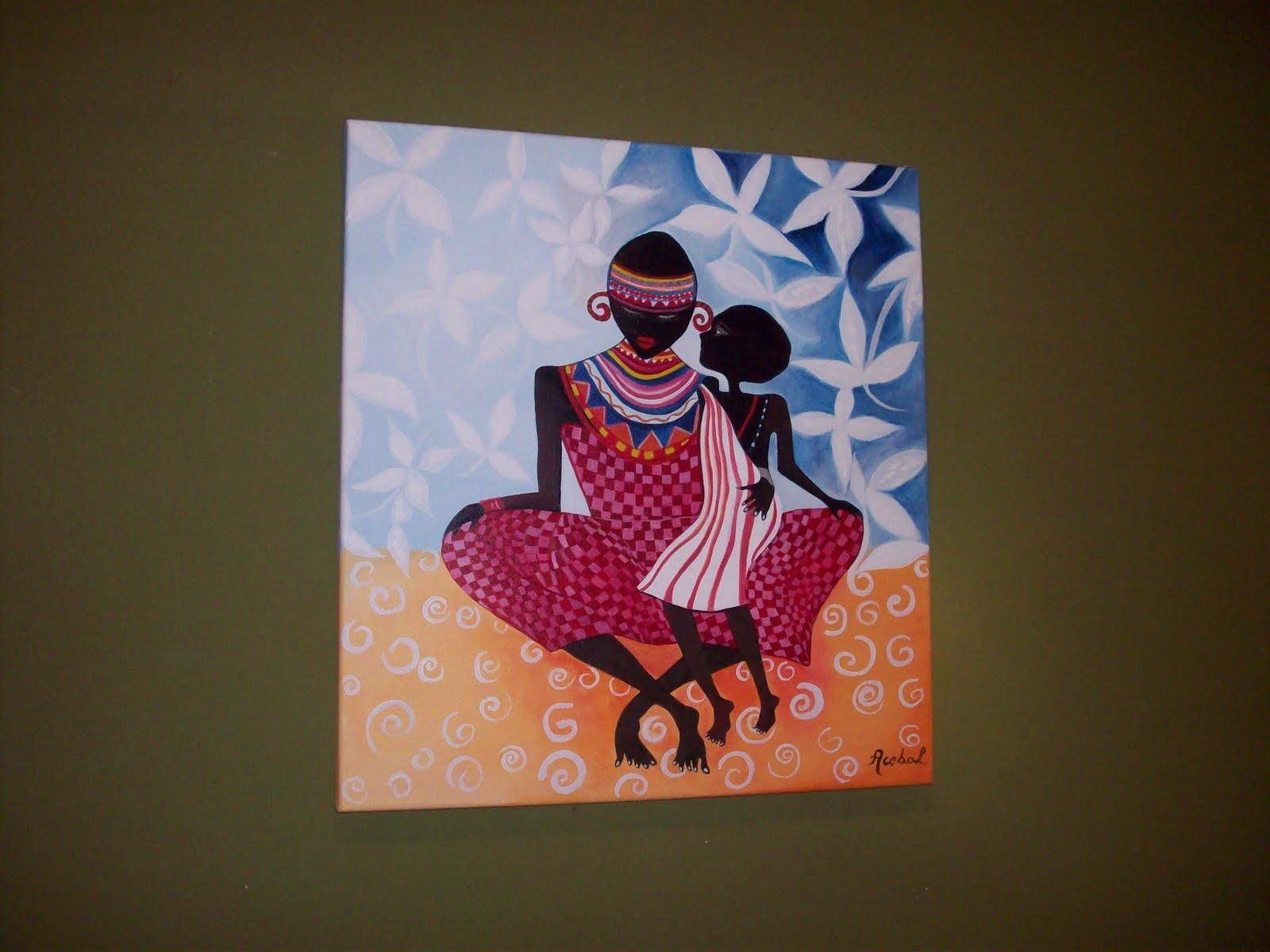 Se vienen los cuadros africanos. Todos en bastidores Box, de 5 cm