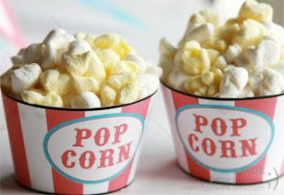 cupcakes that look like popcorn