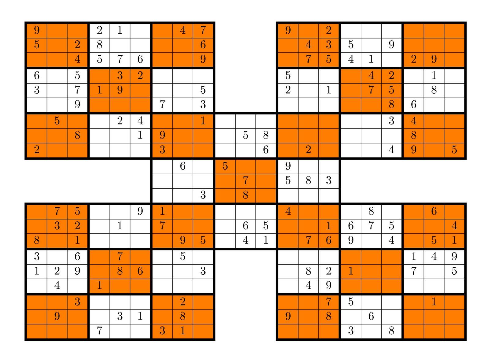 12 High Five Sudoku 9 X 9_10 on 2010 11 01 Archive
