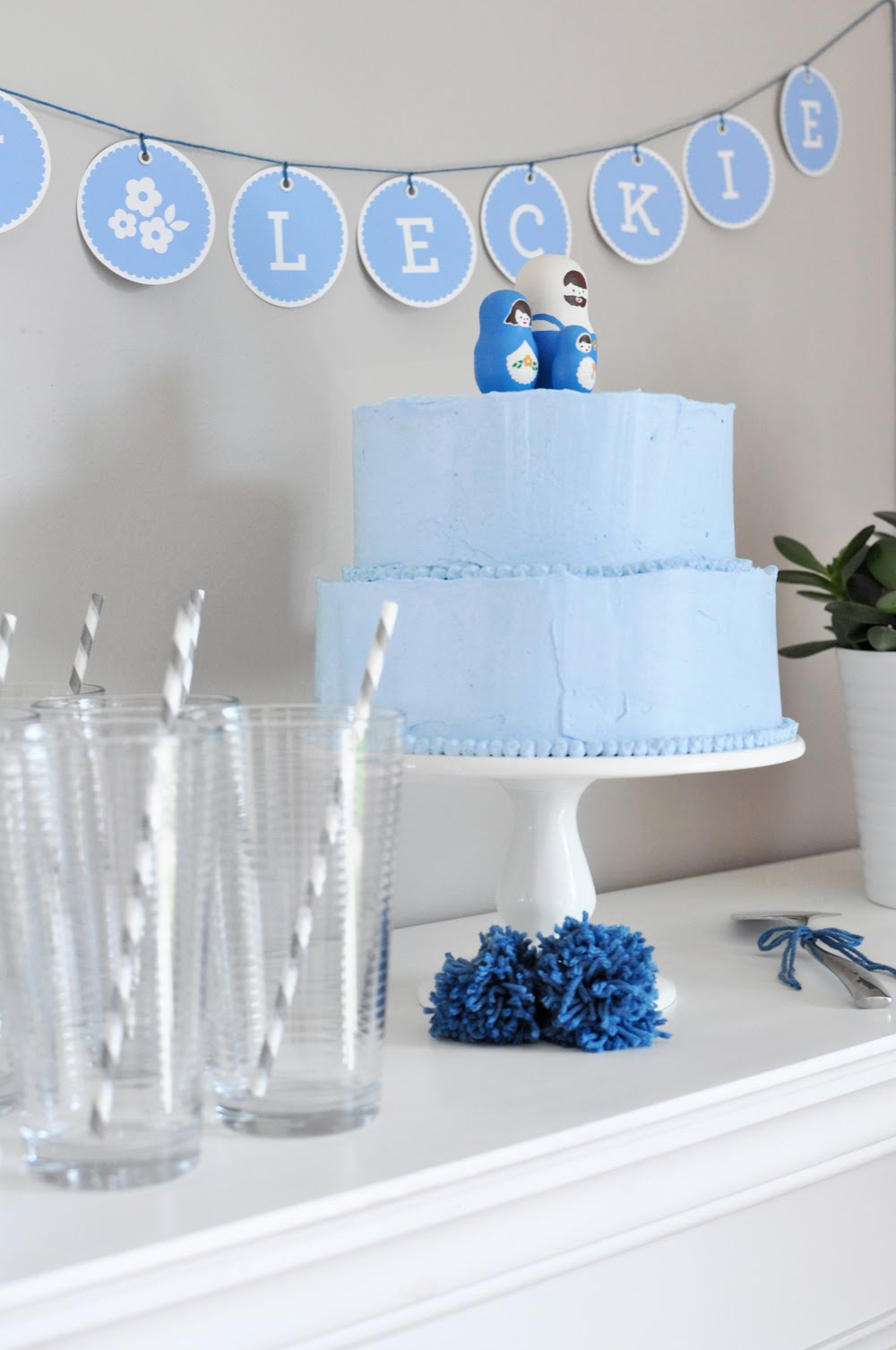 Black eiffel baby blue shower - Deco baby shower garcon ...