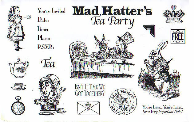 mad hatter tea party clip art - photo #37