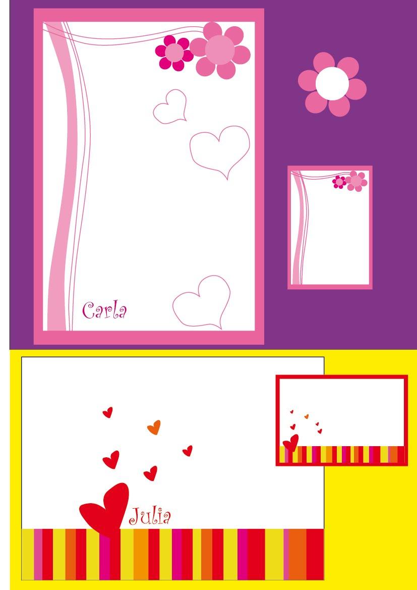 Diseño Gráfico Natalia Paola Martin: Tarjetas de 15 años