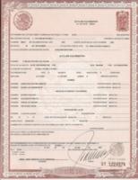 El Nombre y Apellido del Registrado y de sus padres. Ésta última