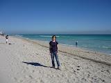 Já na pláži