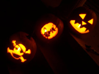 happy, cat and pirate pumpkins