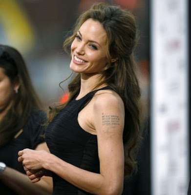 angelina jolie tattoos in wanted. angelina jolie tattoos wanted