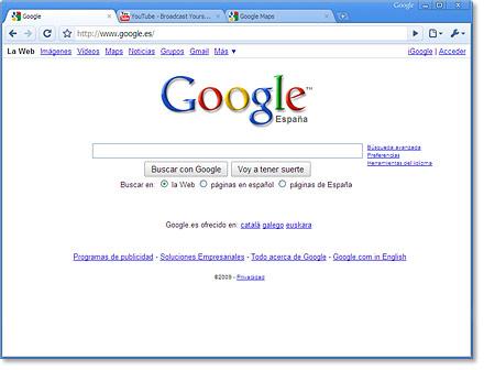 Permite buscar en la Web desde la barra de direcciones.