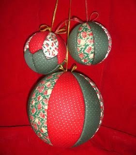 Sucateando bola de natal patchwork - Hacer bolas de navidad ...