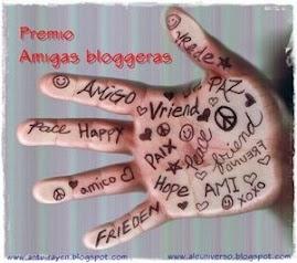 Este blog tiene el premio Amigas blogueras