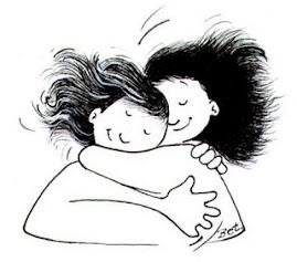 Un bonito abrazo que me han regalado..