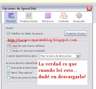 Speed Dial - Recursos para tu Blog
