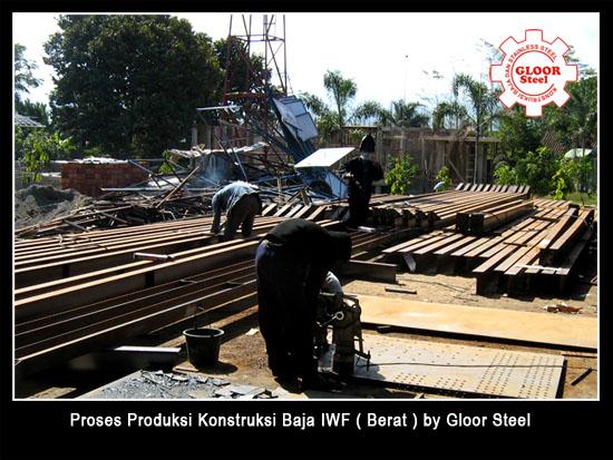 Proses produksi proyek baja berat