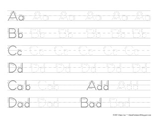 Tracing Letters and Numbers Worksheet {Differentiated} | Tracing ...