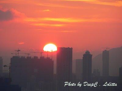 2008年4月7日, 日落