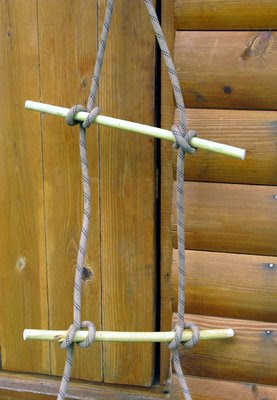 Как связать верёвочную лестницу