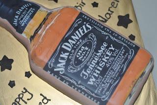 Izahs Kitchen: Jack Daniels whiskey Bottle Shape cake