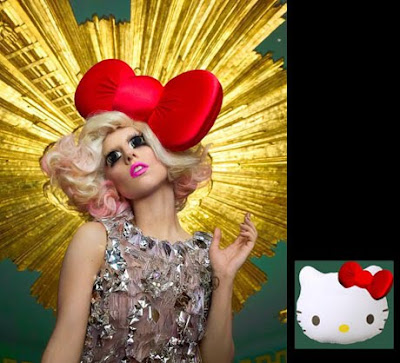 lady gaga photoshoot. hello kitty red.