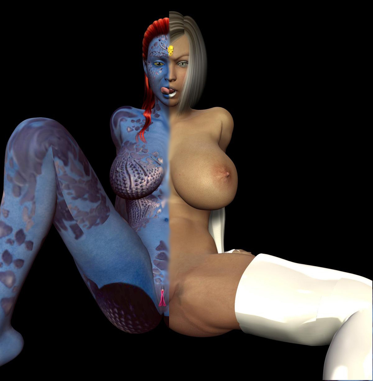 porn x hentai men origins mystique xmen s mystique cosplay