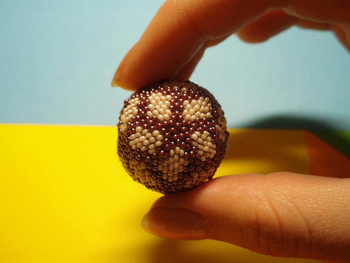 Шары из бисера схемы плетения с пошаговым фото