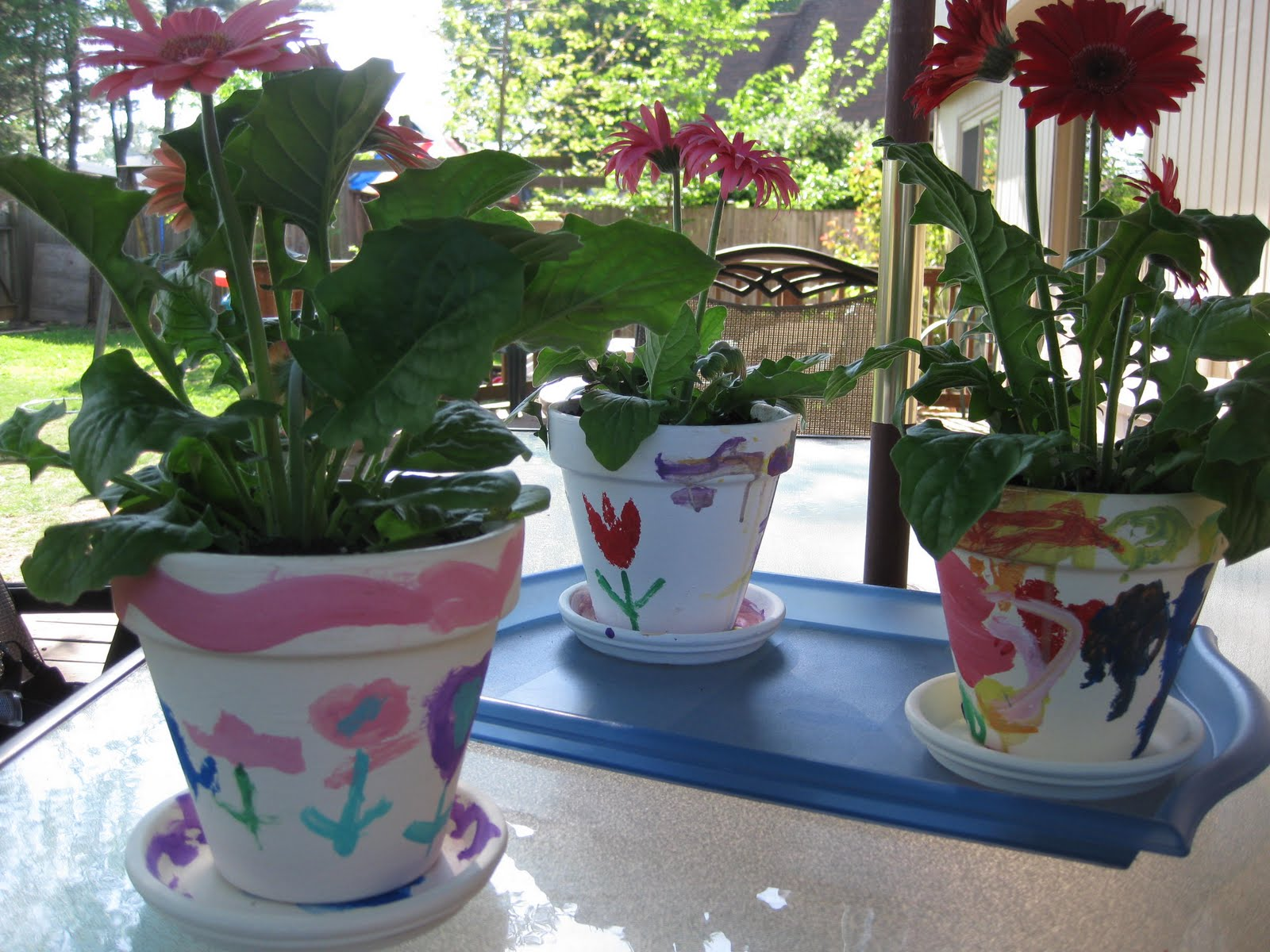 painting flower pots simple and special gifts teach mama. Black Bedroom Furniture Sets. Home Design Ideas