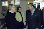 Jill and Trevor welcome H.R.H. Prince Charles to Sarm Studios a number of years ago
