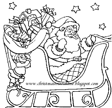 Christmas Tree Outline,christmas tree coloring: Christmas Coloring ...