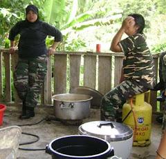 Catering oleh anggota Kompeni bravo