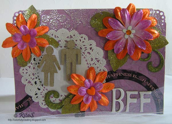 Especially for a wedding card If you like the more modern idea of using a