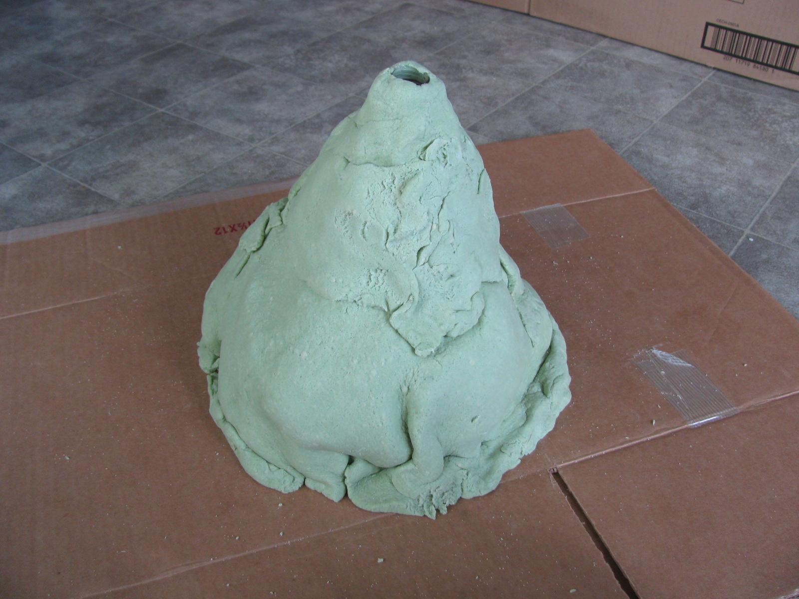 Макет вулкана из соленого теста своими руками 56