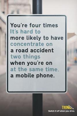Não fale ao celular enquanto está dirigindo