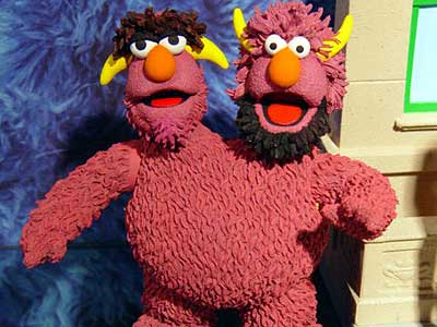 Sesame Street two headed monster