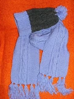 caciula handmade gri lila fular lila tricotata manual
