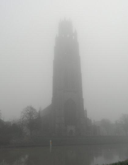 Boston Stump in the Mist
