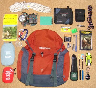 hiking: equipment in my rucksack